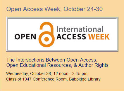 Open Access Week, October 24-30, 2016