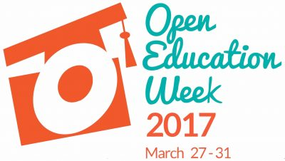 Loga for Open Education Week 2017, March 27 - 31