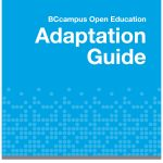 Book cover for BC Campus Open Education Adapation Guide