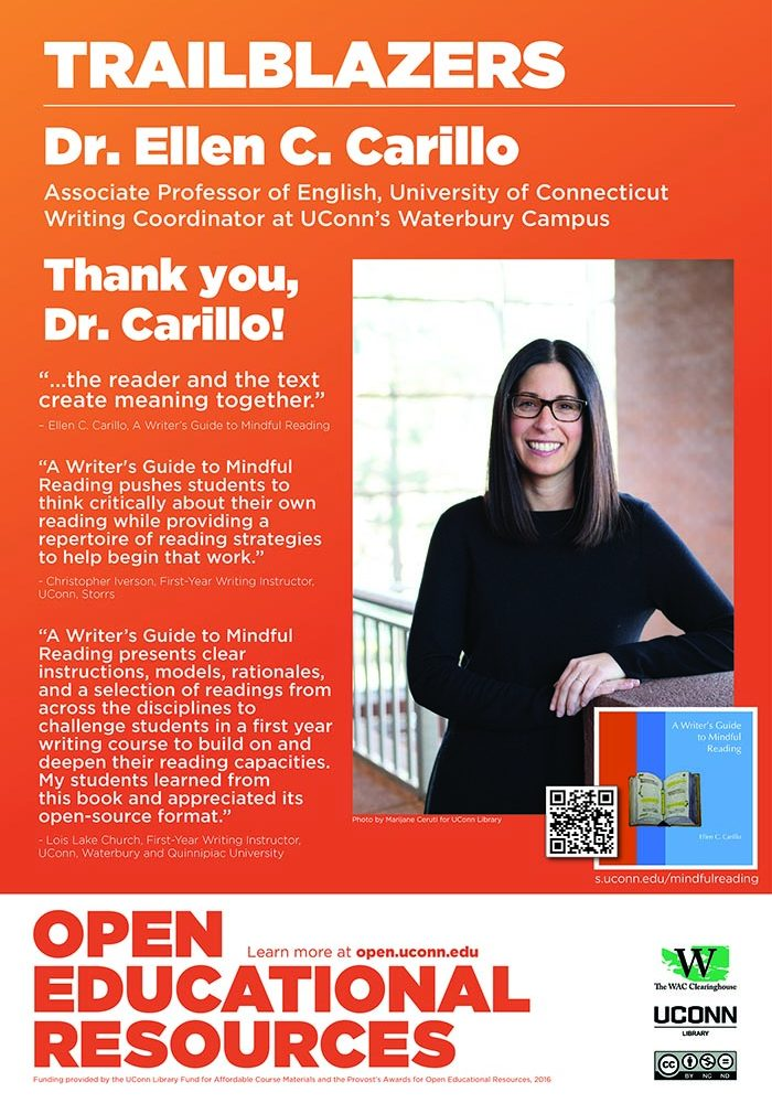 Open Education Week 2019 Poster, Dr. Ellen  Carillo.
